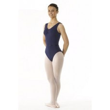 Regulation Sleeveless Leotard Ruched Front With Belt