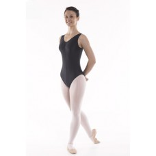 Regulation Sleeveless Leotard Ruched Front
