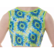 New Kaleidoscope Range - Blue Yellow Aqua Coral Crop Top
