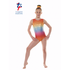 New Kaleidoscope Range - Ombre Rainbow Hologram Shine Short Sleeved Leotard