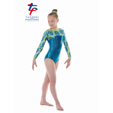 New Kaleidoscope Range - Amazon Hologram Shine/Blue YellowAqua Coral Long Sleeved Leotard