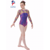 New Kaleidoscope Range - Joker Purple Shine/Streaky Rainbow Long Sleeved Leotard