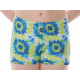 New Kaleidoscope Range - Blue Yellow Aqua Coral Hipster Shorts