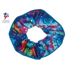 New Kaleidoscope Range - Aqua Hologram Meteor Scrunchie