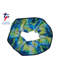 New Kaleidoscope Range - Blue Yellow Aqua Coral Scrunchie