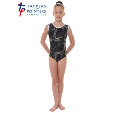 New Carnival Range - Black and Silver Hologram Twisted Foil Short Sleeved Leotard