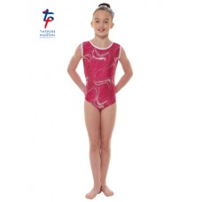 New Carnival Range - Mulberry and Silver Hologram Twisted Foil Short Sleeved Leotard
