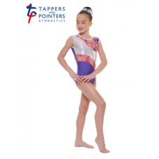 New Carnival Range - Purple and Pink Silver Metallic Astro Foil Platinum Shine Short Sleeved Leotard