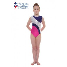 New Carnival Range - Party Pink and Sugar Plum Platinum Shine Short Sleeved Leotard
