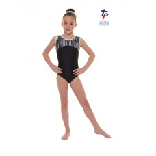New Carnival Range - Black and Grey Cascade Hologram Foil Short Sleeved Leotard