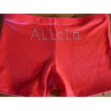 Personalised Red Hipster Leotard Shorts
