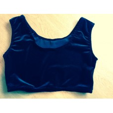 Plain Velvet Crop Top